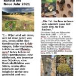 Lesezeichen zum Jahreswechsel 2020/21